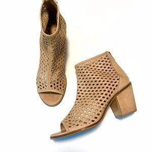 Kelsi Dagger Kyoto Nude Laser Cut Ankle Boots